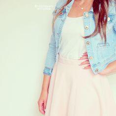 jean jacket & dress
