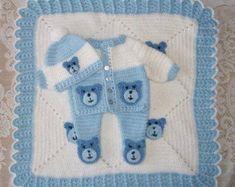 Baby Blanket, Crochet Blanket-Modern Crochet Edging For Baby Boy . Modern Crochet Blanket, Crochet Baby Blanket Beginner, Baby Knitting, Baby Dress Patterns, Crochet Patterns, Layette Pattern, Tricot Baby, Bear Blanket, Kit Bebe
