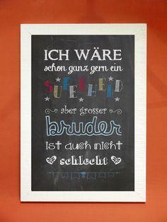 "Digital Print – Art Print ""Big Sister"" – a unique product by Foto-Design-Digital-Art on DaWanda rnrnSource by Digital Prints, Digital Art, O Design, Kidsroom, Art School, Baby Love, Hand Lettering, Chalkboard, Sisters"