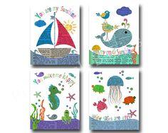 Nautische Kinderzimmer Kunst Ozean Meer von PinkRockBabies auf Etsy