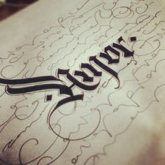 ✍ Sensual Calligraphy Scripts ✍ initials, typography styles and calligraphic art - Calligraphy Words, Typography Letters, Graphic Design Typography, Penmanship, Gothic Lettering, Stylish Letters, Beautiful Handwriting, Beautiful Lettering, Drawing Letters