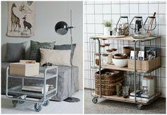 Rolling cart, el almacenaje más práctico. : via MIBLOG