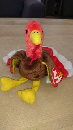 6b0b64257e9 Items similar to Ty Beanie Baby Gobbles - RARE with Errors - Mint Condition  on Etsy