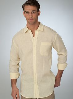 Yellow - The Leeward Linen Shirt