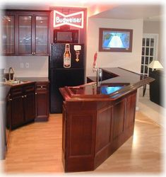 Basement bar for small space