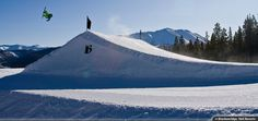 Boost the big-air jumps at Breckenridge. Breckenridge Ski Resort, Breckenridge Colorado, Ski Vacation, Vacation Packages, Resolutions, Lodges, Vacations, Skiing, Mountains