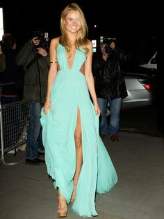 Perfect Plunge Mint Maxi  Absolutely. Stunning.