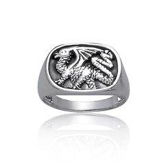 925 Sterling Silver Dragon Ring for Men Unisex