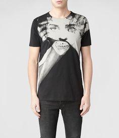 Mens Process Band Crew T-shirt (Jet Black)   ALLSAINTS.com