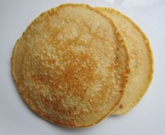 A Protein Pancake Recipe -- low-carb, no-sugar, and my kids devoured them!  Well, one kid slathered enough PB and syrup on that he probably couldn't tell the difference.  But the other loved them topped with applesauce.  Going into the rotation for sure.