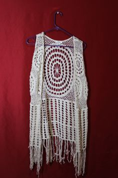 Hey, I found this really awesome Etsy listing at https://www.etsy.com/listing/228596511/1970s-crochet-hippie-vest-boho-coachella