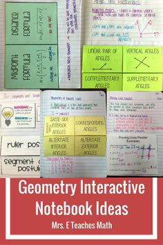 interactive notebook and foldable ideas for geometry