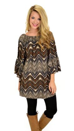 A dress that will match any color leggings and boots! Available today at shopbluedoor.com