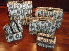 $750 vintage samsonite marimekko fashionaire 5-piece set.