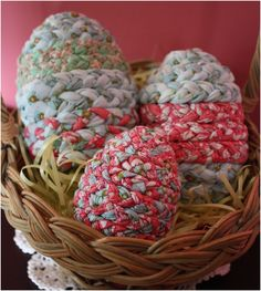 Top 10 Fabulous Fake Easter Eggs.  But you could braid with pretty cords too.
