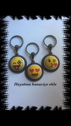 Embroidery Motifs, Diy Embroidery, Diy And Crafts, Crafts For Kids, Mini Cross Stitch, Crochet Stitches, Cross Stitch Patterns, Handmade Keychains, Projects To Try