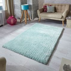 Softness shaggy rugs in mint buy online from the rug seller uk