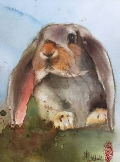 """Saatchi Art Artist Marie-Helene Stokkink; Painting, """"Rabbit"""" #art"""