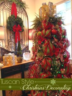 tuscan xmas decorations | Hi there, Friends! I sure have Christmas on my mind.