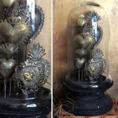 Tin Sacred Heart On A Stand | Heart Decor
