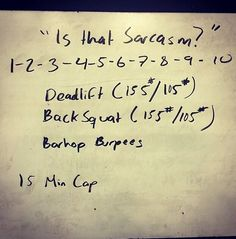 WOD deadlifts, bar burpees, back squats #crossfit