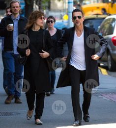 Dave Gahan and Jennifer Sklias. April 2014