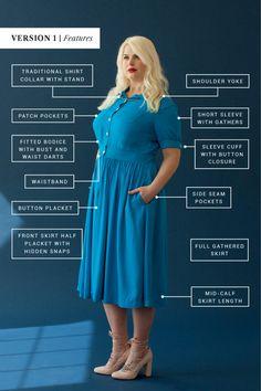 Sew the Penny shirtdress pattern!
