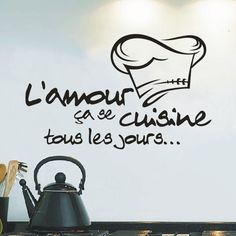 TOP Grand Cuisine Wall Stickers French Vinyl Wall Stickers Home Decor Kitchen Mural Wall Art Tile Stickers Wall Quote Sticker $1.73