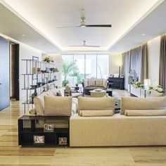 luxury italian design living room at Trump Towers Pune in India