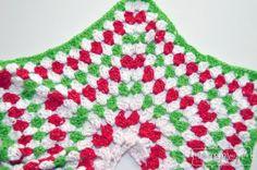 Crochet Granny Stitch Star Christmas Tree Skirt - Free Pattern by My Merry Messy Life
