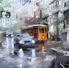 San Francisco Reflections by artist Mark Lague. #cityscape #painting found on the FASO Daily Art Show - http://dailyartshow.faso.com