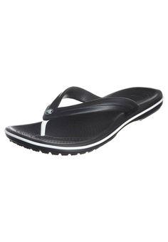 Crocs - CROCBAND FLIP - Teenslippers - Zwart