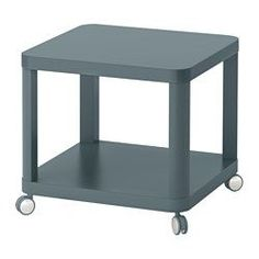 IKEA - TINGBY, Side table on casters, turquoise, , Separate shelf for magazines, etc. helps you keep your things organized and the table top clear.The casters make it easy to move the table if needed.