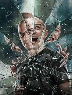 Upcoming new Film in 2019 A Sequel to both & by James Mcavoy, Keanu Matrix, Geeks, Split Movie, Bruce Willis, Guitar Hero, Cool Mirrors, Arte Horror, Movie Poster Art
