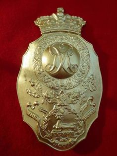 ROYAL SCOTS SHAKO BADGE 1812----Belgic Shako Plate- 1st (Royal Scots) Regiment of Foot- 1812
