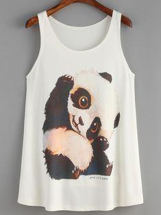 Top panda tank-(Sheinside)