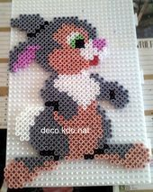 Here is Bambi's friend: pan-pan for this model: 608 pearls selling price term … – Perler Beads – Hama Beads Easy Perler Bead Patterns, Diy Perler Beads, Perler Bead Art, Hama Disney, Bambi, Pony Bead Animals, Hamma Beads Ideas, Motifs Perler, Hama Beads Design