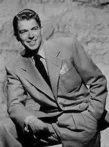 Ronald Reagan, a handsome and creditable actor; his career declined with the material MGM gave him after WWII and his maturing features.