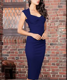 Another great find on #zulily! Navy Love Dress - Plus Too by Stop Staring! #zulilyfinds