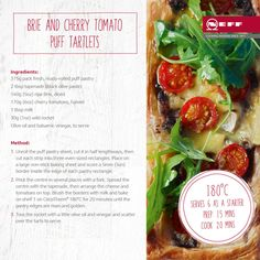Recipe: Brie and Cherry Tomato Puff Tartlets