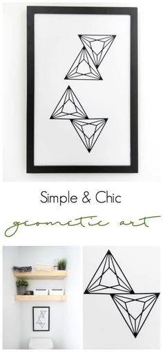 Modern geometric art