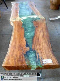 TAR 11 Natural Curve Wood Table Steel