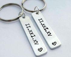 Boyfriend girlfriend couples keychain his by CaliGirlCustoms