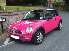 Fuschia Mini Cooper