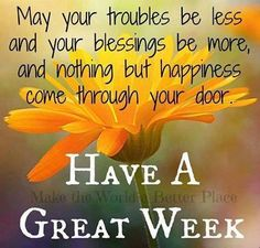 Have a awesome week
