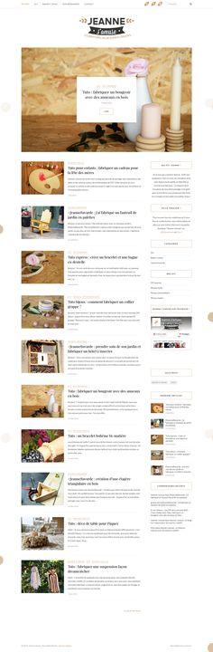 Création d'un blog, animation sociale, optimisation #seo et identité graphique, la marque Jeanne s'amuse nous fait confiance pour le déploiement de sa stratégie marketing. Découvrez ses tutos et ses fournitures pour #DIY sur www.jeannesamuse.com ! #conceptionweb #wordpress #blog #identitegraphique