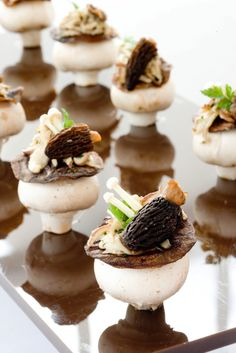 Wild Mushroom Canape, I am allergic to mushrooms but my dad would love these!