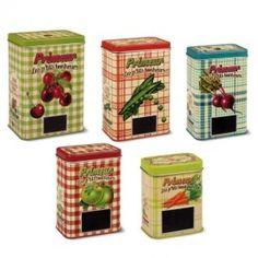 Fruit and Veggie Tins (5 sizes/styles)