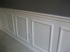 Wainscoting Success (How to Install Wainscoting Without Power Tools.) - Charming Zebra