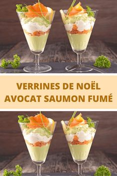 Kerstmis verrines avocado met gerookte zalm - Apocalypse Now And Then Healthy Crockpot Recipes, Healthy Cooking, Cracker Barrel French Toast, Homemade French Toast, Appetizer Recipes, Appetizers, Brunch, Food Buffet, Fancy Desserts